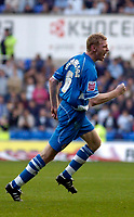 Photo: Alan Crowhurst.<br />Reading v Leeds Utd. Coca Cola Championship.<br />29/10/2005. Brynjar Gunnarsson celebrates after scoring the opening goal for Reading.