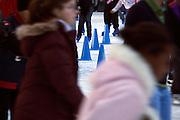 ice skating ring Bryant Park in New York City