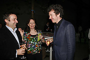 GREGOR MUIR, ANN GALLAGHER AND MARTIN CREED, Launch of Tat Modern's rehang of its permanent Collection in partnership with UBS. Tate Modertn. 23 May 2006. ONE TIME USE ONLY - DO NOT ARCHIVE  © Copyright Photograph by Dafydd Jones 66 Stockwell Park Rd. London SW9 0DA Tel 020 7733 0108 www.dafjones.com