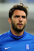 Football Fifa Brazil 2014 World Cup Matchs-Qualifier / Europe - Play-Off -1 Leg / <br /> Greece vs Romania 3-1  ( Karaiskaki Stadium  , Athens-Pireus , Greece ) <br /> Stefanos KAPINO of Greece , during the match between Greece and Romania