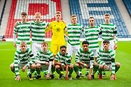 The Celtic team pose for a team picture before the Scottish FA Youth Cup Final match between Celtic and Rangers at Hampden Park, Glasgow, United Kingdom on 25 April 2019.