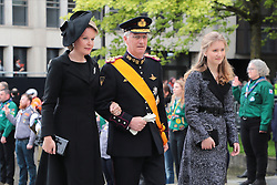 King Philippe, the Queen Mathilde of the Belgians and Crown Princess Elisabeth of Belgium at the funeral of Grand Duke Jean of Luxembourg at Cathedral Notre-Dame of Luxembourg in Luxembourg City, Luxembourg on May 4, 2019. Photo by Papixs Press/ABACAPRESS.COM