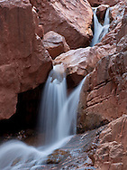 Phantom Creek Canyon waterfall, North Kaibab Trail, Grand Canyon, AZ