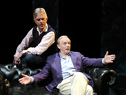 Life After Scandal<br /> by Robin Soans<br /> at the Hampstead Theatre, London, Great Britain<br /> press photocall<br /> 21st September 2007<br /> <br /> Philip Bretherton (as Jonathan Aiken) and Bruce Alexander (as Lord Charles Brocket)<br /> <br /> Photograph by Elliott Franks