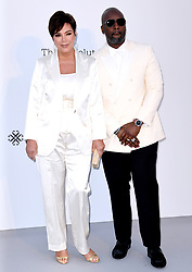 Kris Jenner and Corey Gamble attending the 26th amfAR Gala held at Hotel du Cap-Eden-Roc during the 72nd Cannes Film Festival. Picture credit should read: Doug Peters/EMPICS
