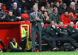 Charlton Athletic Head Coach, Jose Riga claps his team - Photo mandatory by-line: Robin White/JMP - Tel: Mobile: 07966 386802 18/03/2014 - SPORT - FOOTBALL - The Valley - Charlton - Charlton Athletic v Bournemouth - Sky Bet Championship