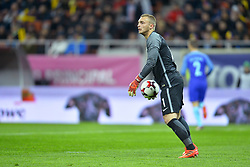 November 14, 2017 - Bucharest, Romania - Netherlands' goalkeeper Jasper Cillessen during International Friendly match between Romania and Netherlands at National Arena Stadium in Bucharest, Romania, on 14 november 2017. (Credit Image: © Alex Nicodim/NurPhoto via ZUMA Press)
