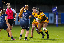 Kanyinsola Adefemiwa Afilaka of Wasps Ladies is confronted by Brea Leung of Sale Sharks Women  - Mandatory by-line: Nick Browning/JMP - 12/12/2020 - RUGBY - CorpAcq Stadium  - Sale, England - Sale Sharks Women v Wasps FC Ladies - Allianz Premier 15s