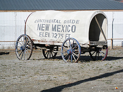 Stagecoach at The Continental Divide in New Mexico USA. Along the Historic US Route 66 Roadway.