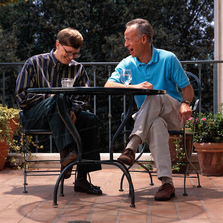 Bill Gates, billionaire and co-founder of Microsoft, with Andy Grove, CEO of Intel.