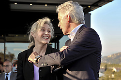 October 5, 2017 - Nice, France - Nathalie Boy de la Tour (presidente de la Ligue de football professionnelle) - Jean Pierre Rivere  (Credit Image: © Panoramic via ZUMA Press)