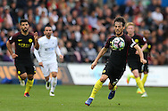 David Silva of Manchester city in action. Premier league match, Swansea city v Manchester city at the Liberty Stadium in Swansea, South Wales on Saturday 24th September 2016.<br /> pic by Andrew Orchard, Andrew Orchard sports photography.
