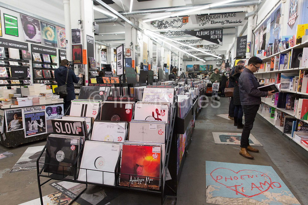 Rough Trade East music shop and venue in the Old Truman Brewery on the 28th March 2018 in East London in the United Kingdom.