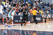 THOUSAND OAKS, CA Sunday, August 12, 2018 - Nike Basketball Academy. De'Vion Harmon 2019 #12 of John H. Guyer HS handles the ball. <br /> NOTE TO USER: Mandatory Copyright Notice: Photo by John Lopez / Nike