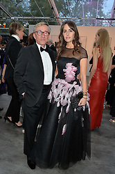 JASPER CONRAN and TANIA FARES at British Vogue's Centenary Gala Dinner in Kensington Gardens, London on 23rd May 2016.