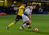 Football - 2018 / 2019 UEFA Champions League - Round of Sixteen, Second Leg: Borussia Dortmund (0) vs. Tottenham Hotspur (3)<br /> <br /> Jadon Sancho (Borussia Dortmund) battles with Jan Vertonghen (Tottenham FC) at Signal Iduna Park (Westfalenstadion).<br /> <br /> COLORSPORT/DANIEL BEARHAM