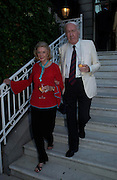 Andrew and Sonia Sinclair. The Business Summer party hosted by Andrew Neil. Italian Hotel, Ritz Hotel. 12 July 2005. ONE TIME USE ONLY - DO NOT ARCHIVE  © Copyright Photograph by Dafydd Jones 66 Stockwell Park Rd. London SW9 0DA Tel 020 7733 0108 www.dafjones.com