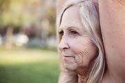 close up of mature women