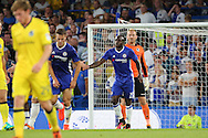 Chelsea attacker Victor Moses (15) scores a goal 2-0 during the EFL Cup match between Chelsea and Bristol Rovers at Stamford Bridge, London, England on 23 August 2016. Photo by Matthew Redman.