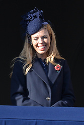 © Licensed to London News Pictures. 10/11/2019. London, UK. Carrie Symonds attends the annual remembrance ceremony marking the 101st anniversary of the end of the First World War. Photo credit: Ray Tang/LNP