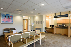 Yale-New Haven Health Park Avenue Medical Center. Architect: Shepley Bulfinch. Contractor: Gilbane Building Company, Glastonbury, CT. James R Anderson Photography, New Haven CT photog.com. Date of Photograph 4 May 2016  Submission 25  © James R Anderson. Reception and Waiting, First Floor