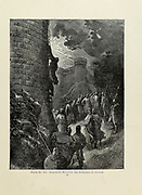 Bohemond [Bohemond I (c. 1054 – 3 March 1111)] mounting the ramparts of Antioch Plate XX from the book Story of the crusades. with a magnificent gallery of one hundred full-page engravings by the world-renowned artist, Gustave Doré [Gustave Dore] by Boyd, James P. (James Penny), 1836-1910. Published in Philadelphia 1892