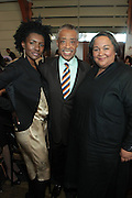 April 7, 2012 New York, NY:  (L-R) Honoree Contance C.R. White White, Editor-in-chief, Essence Magazine, Rev. Al Sharpton and Tanya Leah lombard, VP, Public Affairs, AT&T attend the 62nd Annual Women of Distinction Spirit Awards Luncheon & Fashion Show sponsored by The Links, Inc- Greater New York Chapter held at Pier Sixty at Chelsea Piers on April 7, 2012 in New York City...Established in 1946, The Links,  incorporated, is one of the nation's oldest and largest volunteer service of women, linked in friendship, are committed to enriching, sustaining and ensuring the culture and economic survival of African-American and persons of African descent . The Links Incorporated is a not-for-profit organization, which consists of nearly 12, 000 professional women of color in 272 located in 42 states, the District of Columbia and the Bahamas. (Photo by Terrence Jennings)