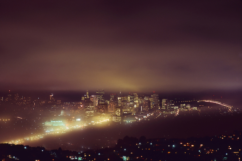 fog over San Francisco, California