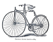 Original Rover Safety 1884 From Wheels and Wheeling; An indispensable handbook for cyclists, with over two hundred illustrations by Porter, Luther Henry. Published in Boston in  1892