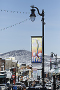 SHOT 3/2/17 10:51:32 AM - Park City, Utah lies east of Salt Lake City in the western state of Utah. Framed by the craggy Wasatch Range, it's bordered by the Deer Valley Resort and the huge Park City Mountain Resort, both known for their ski slopes. Utah Olympic Park, to the north, hosted the 2002 Winter Olympics and is now predominantly a training facility. In town, Main Street is lined with buildings built primarily during a 19th-century silver mining boom that have become numerous restaurants, bars and shops. (Photo by Marc Piscotty / © 2017)
