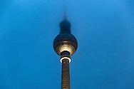 Fernsehturm, the Berlin television tower located near Alexanderplatz, Berlin,, Germany