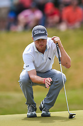 March 24, 2018 - Austin, TX, U.S. - AUSTIN, TX - MARCH 24: Justin Thomas lines up a putt during the quarterfinals of the WGC-Dell Technologies Match Play on March 24, 2018 at Austin Country Club in Austin, TX. (Photo by Daniel Dunn/Icon Sportswire) (Credit Image: © Daniel Dunn/Icon SMI via ZUMA Press)