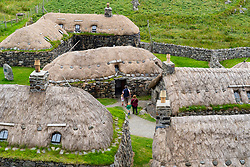 Gearrannan Blackhouse village at Garenin on Isle of Lewis , Outer Hebrides, Scotland UK