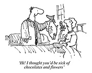 'Hi! I thought you'd be sick of chocolates and flowers'