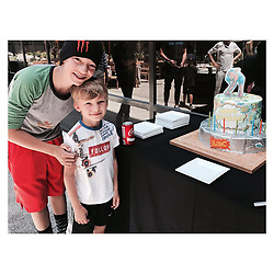 """Kate Hudson releases a photo on Instagram with the following caption: """"Oh how they grow! Mr Bing Bong turned a big 6 today \u2764\ufe0f #BirthdayBoy \ud83c\udf82\ud83c\udf82\ud83c\udf82\ud83c\udf82\ud83c\udf82\ud83c\udf82"""". Photo Credit: Instagram *** No USA Distribution *** For Editorial Use Only *** Not to be Published in Books or Photo Books ***  Please note: Fees charged by the agency are for the agency's services only, and do not, nor are they intended to, convey to the user any ownership of Copyright or License in the material. The agency does not claim any ownership including but not limited to Copyright or License in the attached material. By publishing this material you expressly agree to indemnify and to hold the agency and its directors, shareholders and employees harmless from any loss, claims, damages, demands, expenses (including legal fees), or any causes of action or allegation against the agency arising out of or connected in any way with publication of the material."""