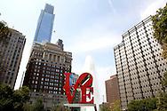 UNITED STATES-PHILADELPHIA-JFK Plaza. Love Park. Monument in honor of President John F. Kennedy. PHOTO: GERRIT DE HEUS .VERENIGDE STATEN-PHILADELPHIA- JFK Plaza/Love Park. Monument ter ere van John F. Kennedy. COPYRIGHT GERRIT DE HEUS