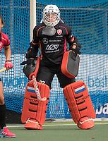 UTRECHT - HOCKEY -  keeper Larissa Meijer (Oranje-Rood)  tijdens  de hoofdklasse hockeywedstrijd dames Kampong-Oranje-Rood (0-5) .  COPYRIGHT KOEN SUYK