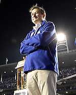 CHICAGO, IL - OCTOBER 22: Chicago Cubs Chairman and owner Tom Ricketts looks on during the post game celebration after the Cubs defeated the Los Angeles Dodgers in Game 6 of the NLCS at Wrigley Field on Saturday, October 22, 2016 in Chicago, Illinois. (Photo by Ron Vesely/MLB Photos via Getty Images)