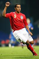 Photo: Chris Ratcliffe.<br /> England U21 v Moldova U21. European Championship Qualifier. 15/08/2006.<br /> Theo Walcott of England U21.