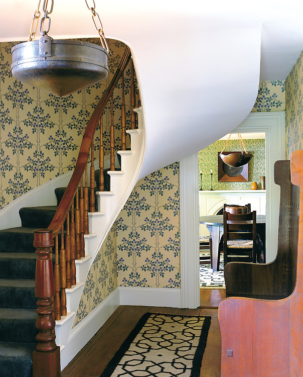 Stairwell in Hudson, New York Home