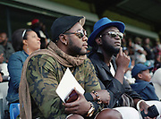 Local supporters. Dulwich Hamlet FC vs Sierra Leone, charity game, at Champion Hill on 17th September 2017 in South London in the United Kingdom. Sierra Leonean ex-footballers in London played against Dulwich Hamlet fc in a fundraiser match at Champion Hill in aid for victims of Freetown mudslide victims in Sierra Leone, Africa.