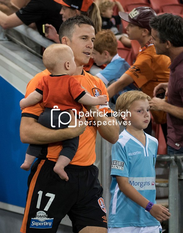 BRISBANE, AUSTRALIA - OCTOBER 7: Matt McKay of the Roar walks out during the round 1 Hyundai A-League match between the Brisbane Roar and Melbourne Victory at Suncorp Stadium on October 7, 2016 in Brisbane, Australia. (Photo by Patrick Kearney/Brisbane Roar)
