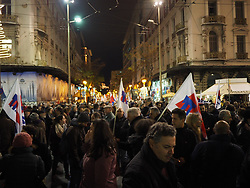 December 18, 2018 - Athens, Attiki, Greece - Greek Union PAME (All workers Militant Front) rallies in Athens against the voting of the New Budget by the Greek government. (Credit Image: © George Panagakis/Pacific Press via ZUMA Wire)