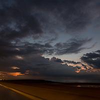 The Atlantic Ocean from the highway Rabat-Casablanca.