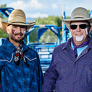 Rodeo clowns at the Steamboat Springs Colorado Rodeo.