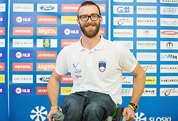 Gal Jakic during official presentation of the outfits of the Slovenian Ski Teams before new season 2015/16, on October 6, 2015 in Kulinarika Jezersek, Sora, Slovenia. Photo by Vid Ponikvar / Sportida