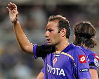 Fotball<br /> Italia<br /> Foto: Inside/Digitalsport<br /> NORWAY ONLY<br /> <br /> Zanetti<br /> <br /> 28.08.2009<br /> Champions League Play-offs Leg 2<br /> Fiorentina v Sporting Lisboa 1-1
