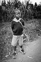 Portrait of a school boy in Mto Wa Mbu, Tanzania, Africa