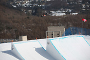 Mark McMorris, Canada, during the mens snowboard slopestyle finals at the Pyeongchang Winter Olympics on the 11th February 2018 in Phoenix Snow Park in South Korea