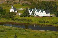 Islande, Thingvellir, Ancien parlement // Iceland, Thingvellir National Parliament, site of original parliament
